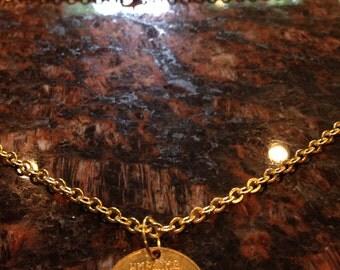 Ukraine 50 kopiyok coin necklace