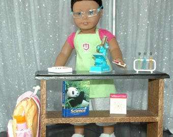 American Girl Doll or any 18 inch Doll - Science Lab Table