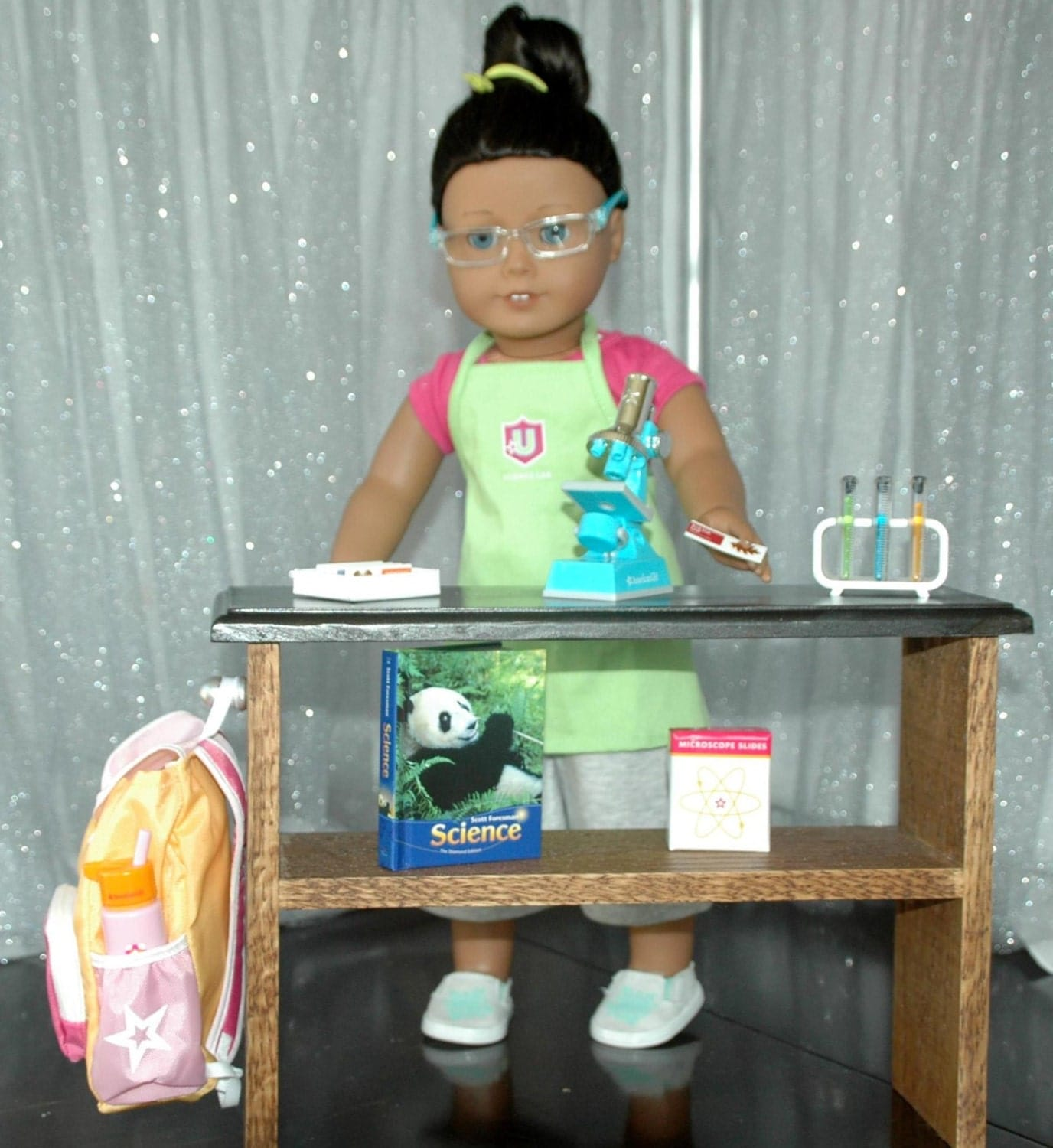 American Girl Doll Living Room Furniture: American Girl Doll Or Any 18 Inch Doll Science Lab Table