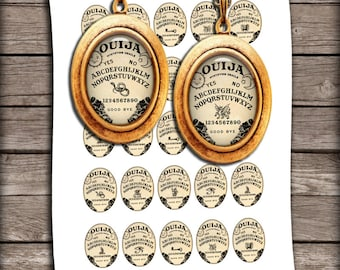 Ouija Board Oval Images 30x40mm 22x30mm 18x25mm for Jewelry Making - Digital Collage Sheet - Instant Download