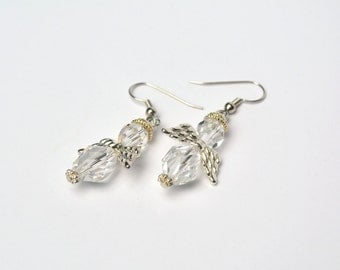 Angle Earrings, Holiday Jewelry, Costume Jewelry, Christmas Earrings, Holiday Earrings,