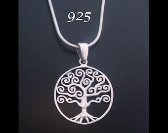Tree of Life Necklace with a Celtic Influence 925 Sterling Silver Tree of Life Pendant - Tree of Life Jewelry, Tree of Life Necklace 046