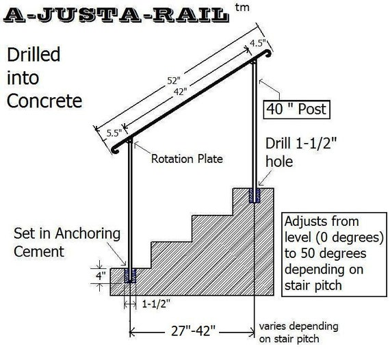 Items Similar To A Justa Rail 52 Quot Wrought Iron Step