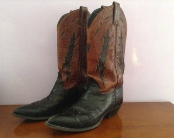 "Boots ""Code West"" Vintage brown / black"