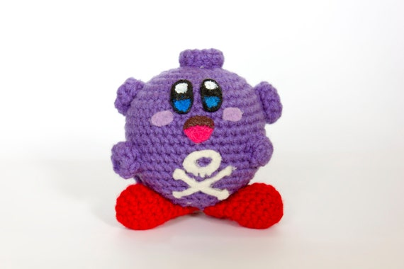 Crochet Patterns Amigurumi Monkey : Crochet Koffing Kirby Amigurumi Made to order