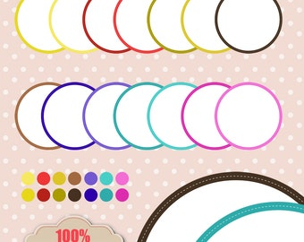 Rainbow no02 Digital Frames , printables, patterns, invitation, cards, tags, digital frame, sticker, labels [DGF-003]