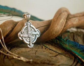 Brigid's Cross ~ Irish Blessing and Protection ~ Sterling Silver Pendant