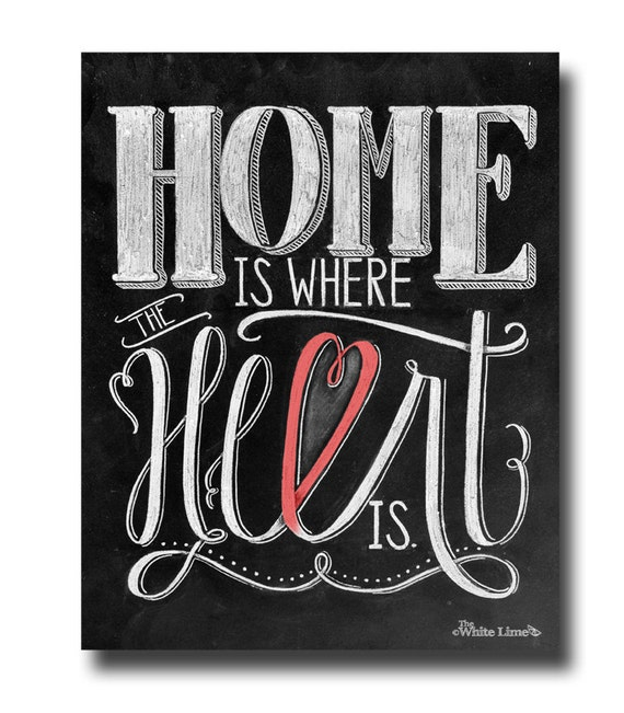items similar to home is where the heart is home decor wedding decor chalkboard art chalk art. Black Bedroom Furniture Sets. Home Design Ideas