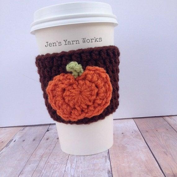 Items similar to Crochet pumpkin coffee cup cozy *FREE ...