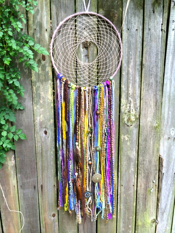 Dreamcatchers made with new recycled material for Materials to make a dreamcatcher