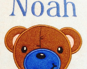 Personalized Boy Baby Blanket Embroidered/Appliqued