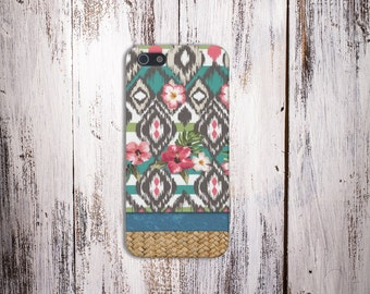 Hand Painted Tribal Flowers Case,iPhone 7, iPhone 7 Plus, Protective iPhone Case, Galaxy s8, Samsung Galaxy Case, Note 5, CASE ESCAPE