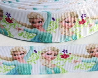 SALE*****Frozen Ribbon 1 Inch Grosgrain Ribbon by the Yard for Hairbows, Scrapbooking, and More!!