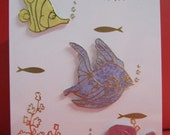 Handmade Card Happy Birthday with fish