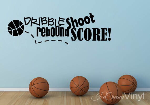 Basketball Decal | Sports Wall Decal | Wall Decals | Basketball Gifts | Christmas Gift | Basketball Wall Art | Sports Room Decor