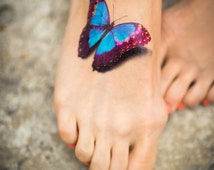 Butterfly Temporary Tattoo, 3D, Realistic Tattoo Style