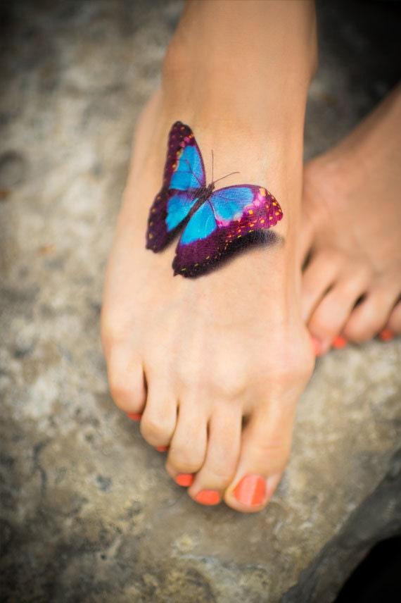 papillon tatouage temporaire tatouage r aliste par madebytattooyou. Black Bedroom Furniture Sets. Home Design Ideas