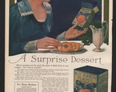 Original Ladies Home Journal print for Blue Ribbon Peaches and Overland Car - F&B156-7