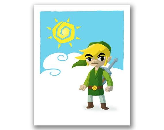 Legend Of Zelda Wind Waker Poster Items similar to Link ...