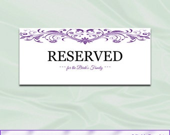 Reserved Table Card Template Pictures to Pin on Pinterest - PinsDaddy