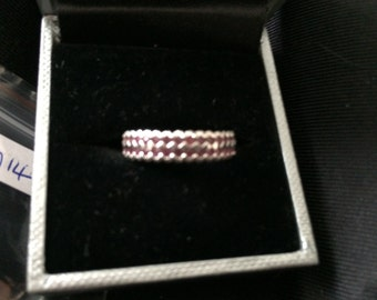 Silver and Ruby eternity ring
