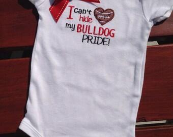 Bulldog Spirit Baby Girl Onsie/Bodysuit