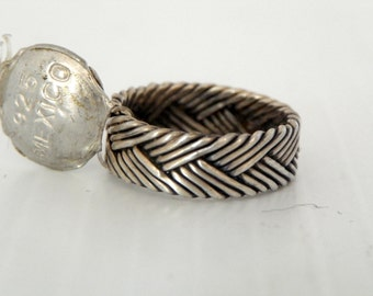 Taxco Sterling Silver Rope Band