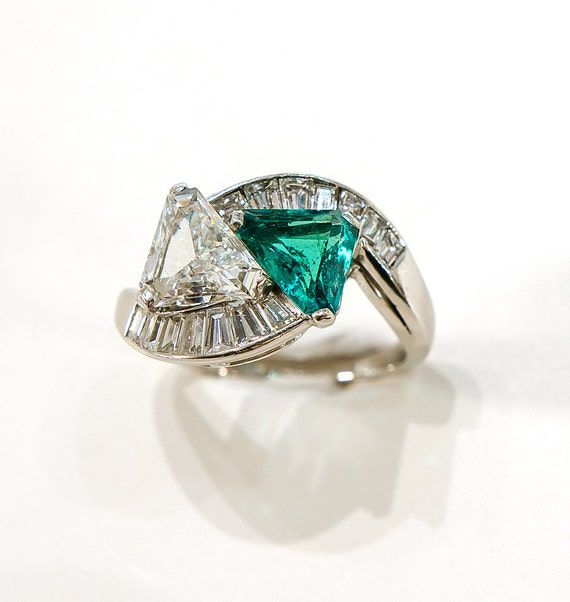 breath taking 1950 s emerald and by crownestatejewelry