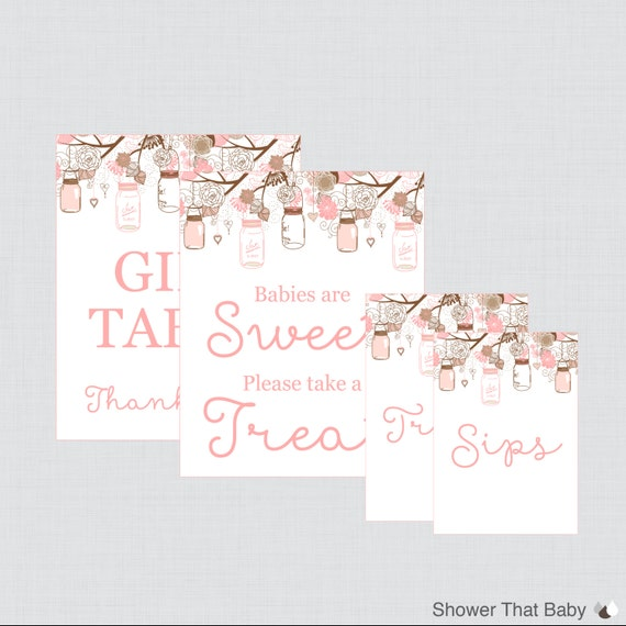printable baby shower table signs favors sign babies are sweet sign