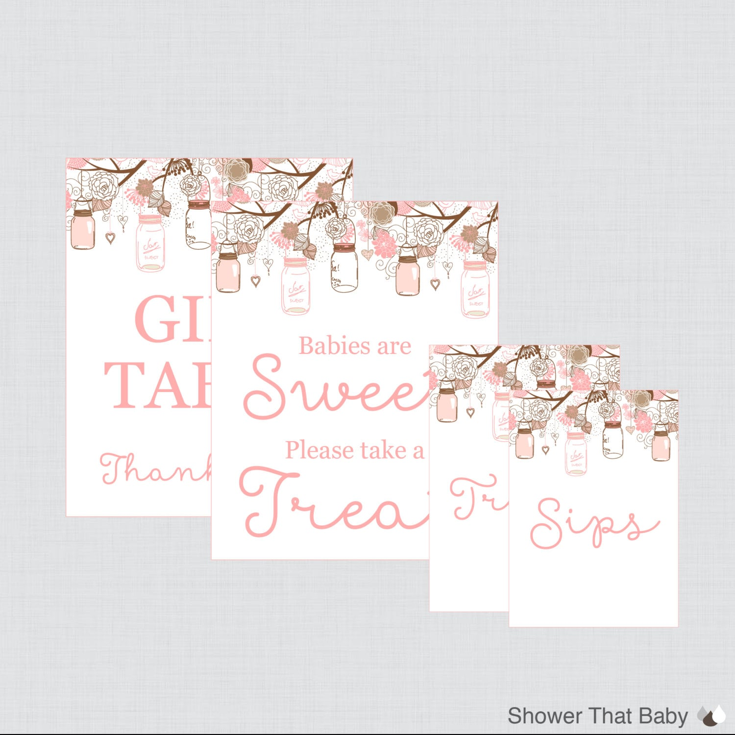 printable baby shower table signs favors sign babies are