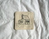 Seaside Home//Hand-embroidered Patch