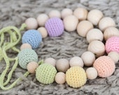 Natural Pastel Nursing necklace / Breastfeeding necklace / Baby sling necklace / Teething necklace