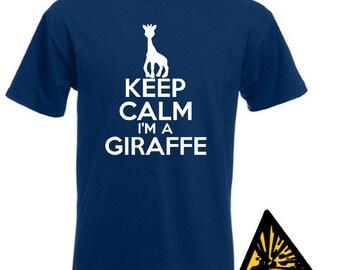 Keep Calm I'm A Giraffe T-Shirt Joke Funny Tshirt Tee Shirt Tall Person Gift