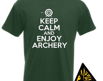 Keep Calm And Enjoy Archery T-Shirt Joke Funny Tshirt Tee Shirt Gift Arrows Archer