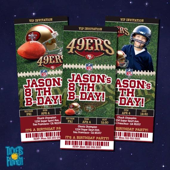San Francisco 49ers Tickets Birthday Invitation by ...