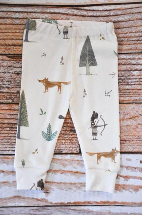 Organic baby leggings baby pants baby leggins toddler