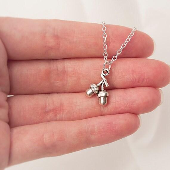 Delicate Necklace, Acorn Necklace