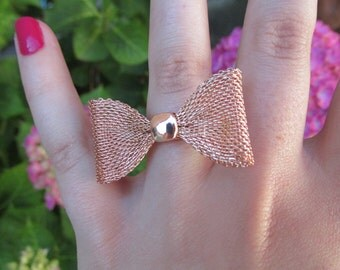 Cute Adjustable Bow Ring