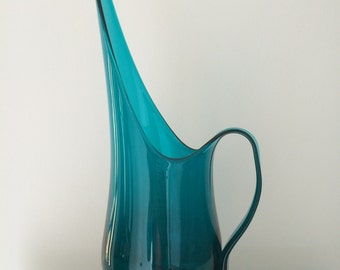 Mid Century Art Glass Pitcher