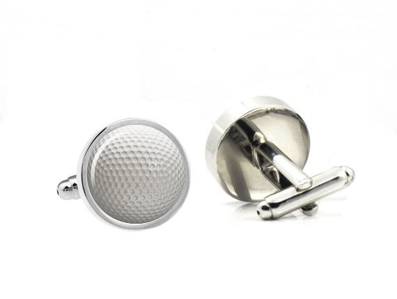 Golf ball cufflinks custom name date cuff links custom for Golf buflings