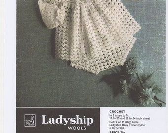 Vintage Ladyship 4728 Baby Crochet Pattern for an Angel ...