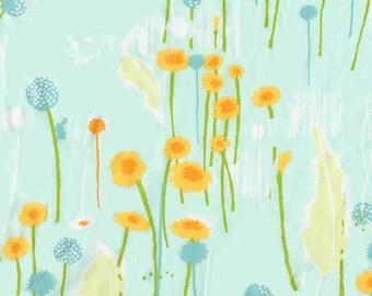 Heather Ross - Munki Munki Fabric - Dandelions Flowers - OOP Out Of Print VHTF