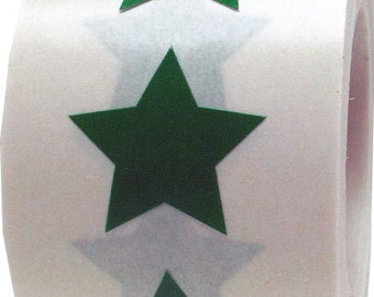 "Green Star Shape Stickers | 3/4"" Adhesive Star Stickers 
