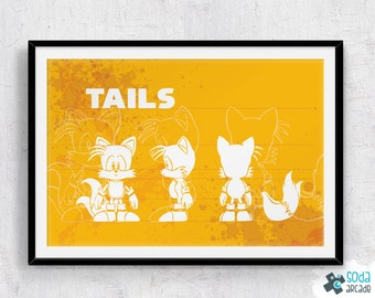 SALE: Sonic the Hedgehog Classic Tails Print