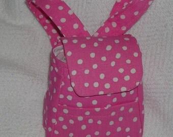 Pink Polka Dot American Girl Backpack