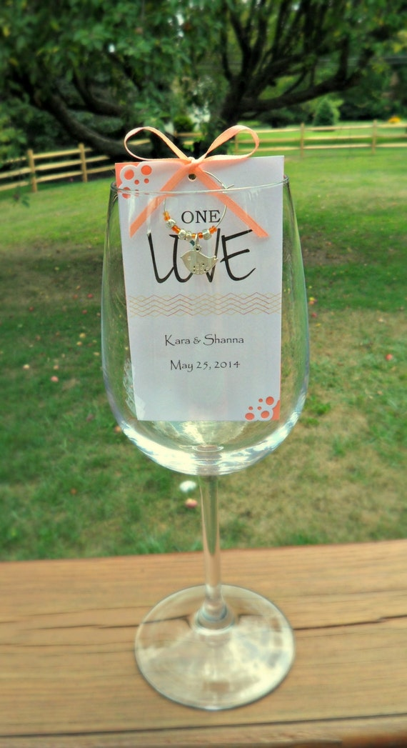 Destination Wedding Favors Wine Charm Favors By MailmansDaughter