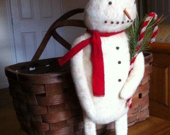 Primitive Grungy Frosty Snowman Christmas/Winter E-Pattern