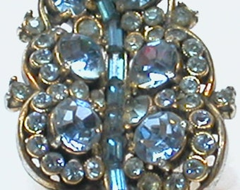 VIntage Pin Blue Glass