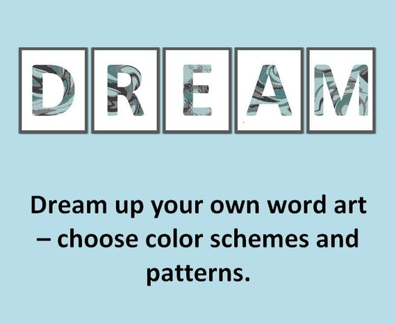 Design Your Own Wall Art Writing : Items similar to letter wall art word design your own