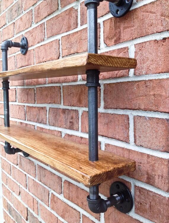 double tag re curio tag re vintage industriel tuyaux de bois. Black Bedroom Furniture Sets. Home Design Ideas